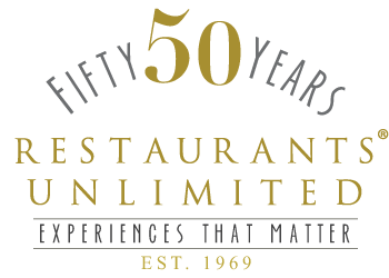 50 years restaurants unlimited logo, since 1969, Experiences that matter